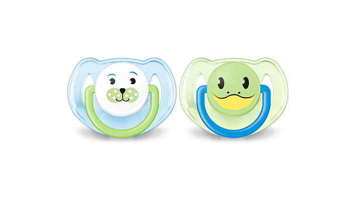 Philips Avent Orthodontic Pacifiers, 6-18 Months, Bear/Turtle - 2 Counts