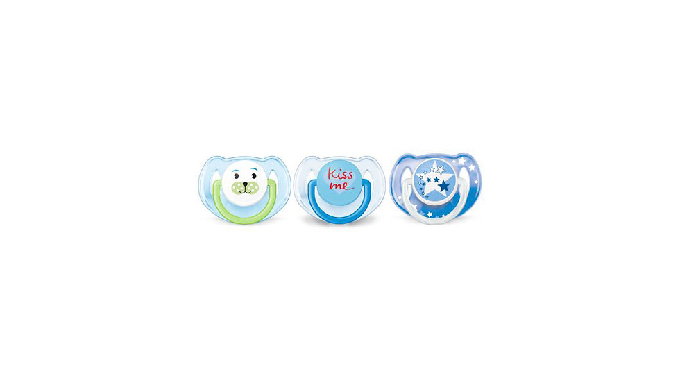 Philips Avent Classic Value Pack, 6-18 months, Blue, 3 pack, SCF134/31