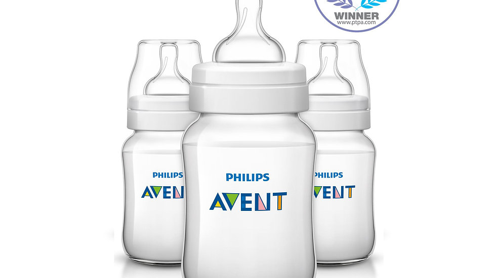 Philips Avent Anti-colic Baby Bottles Clear, 9oz, 3pk