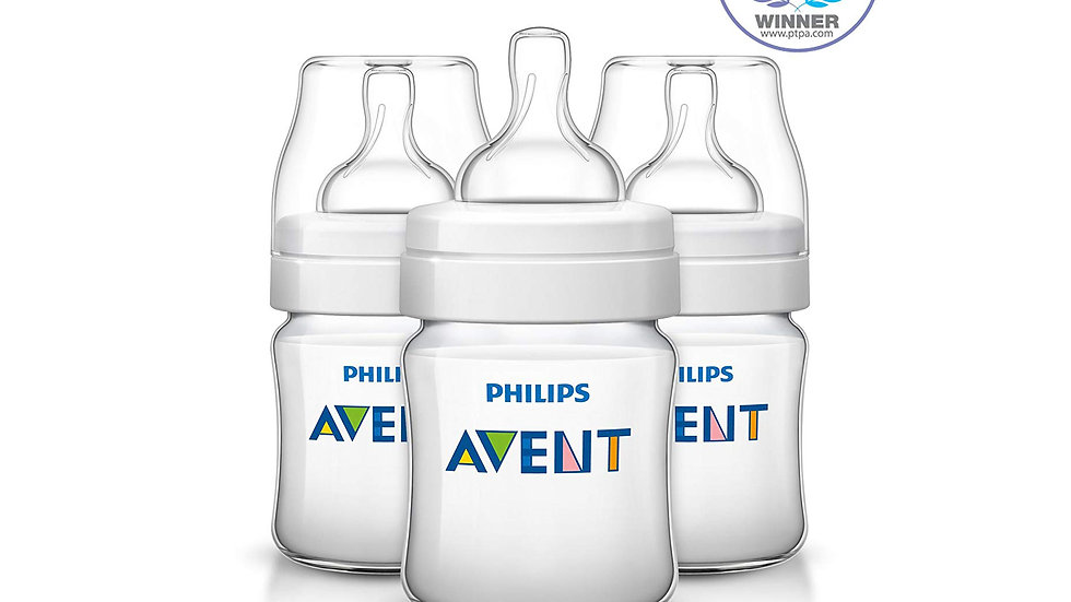 Philips Avent Anti-colic Baby Bottles Clear, 4oz, 3pk