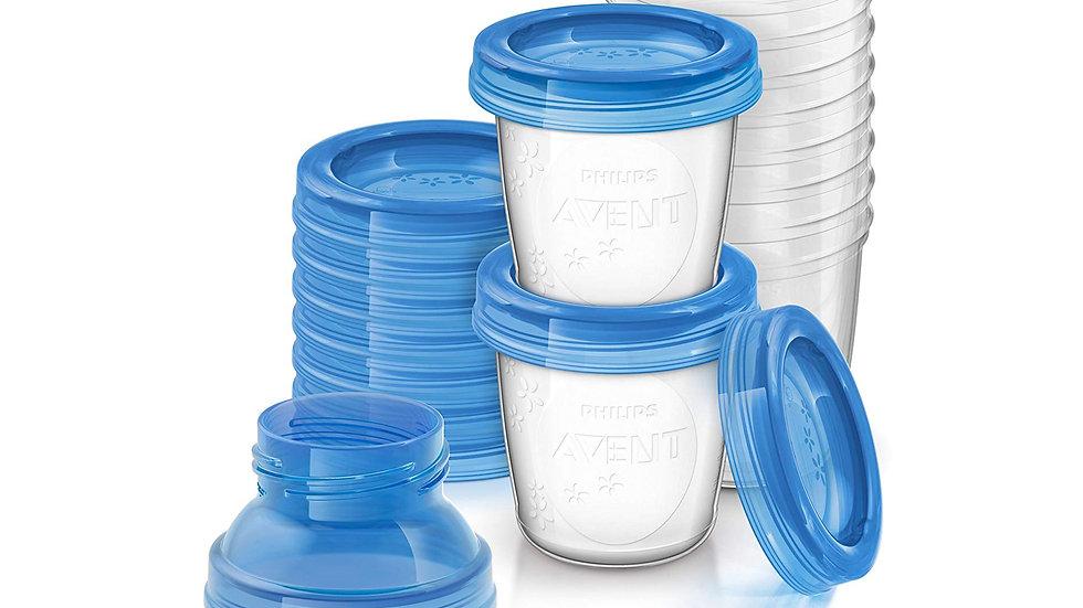 Breast milk storage cups, SCF618/10