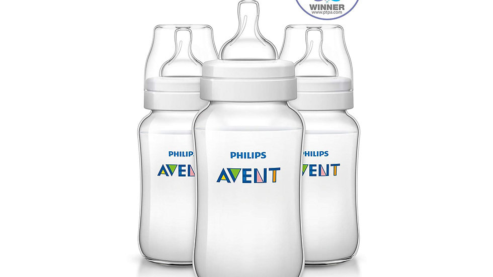 Philips Avent Anti-colic Baby Bottles Clear, 11oz, 3pk