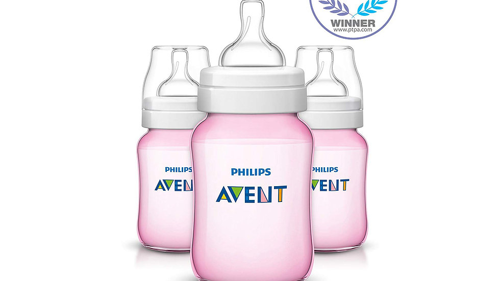 Philips Avent Anti-colic Baby Bottles Pink, 9oz, 3pk
