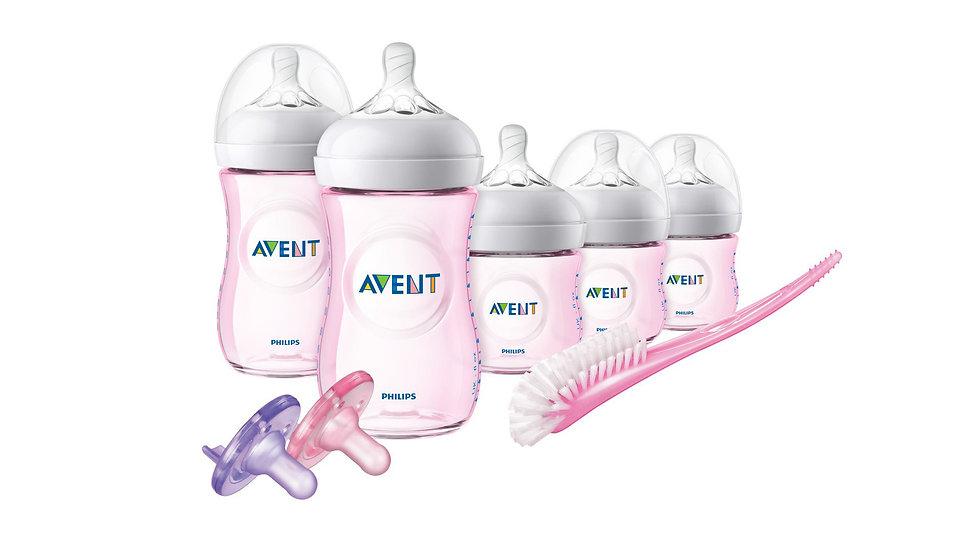 Philips Avent Natural Infant Baby Bottle Starter Set, Pink, SCD296/11