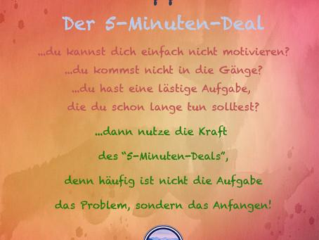 Mental-Tipp 13/2021- der 5-Minuten-Deal