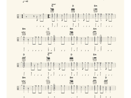 Kiss the rain – Yiruma 雨的印記 Chord Solo Part 2
