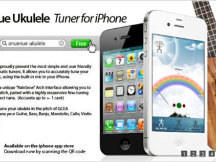 aNueNue Ukulele Tuner for iphone