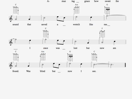 編寫你第一份TAB譜:Amazing Grace (1. 加入和弦)
