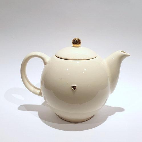 Duży dzbanek-czajniczek - ecru