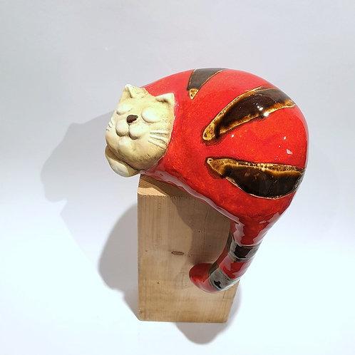 Kot z ogonem duży czerwony