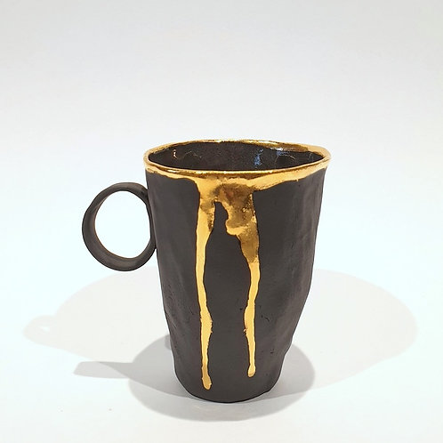 Kubek porcelanowy M - czarny mat