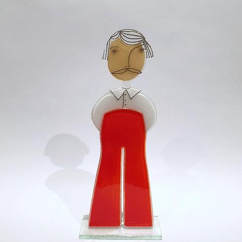 Pan - czerwone spodnie