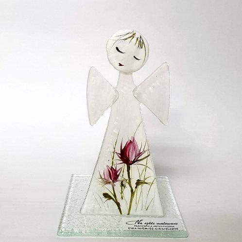 Aniołek malowany tealight11