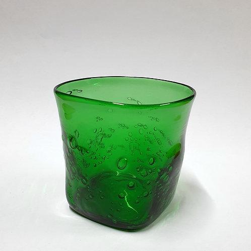 Szklanka butelkowa zieleń