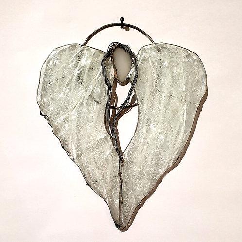 Anielskie skrzydła - witraż