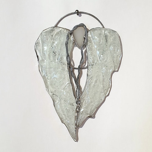 Anielskie skrzydła-serce małe - witraż
