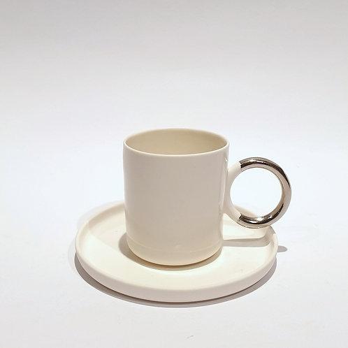 Filiżanka espresso ring - biel
