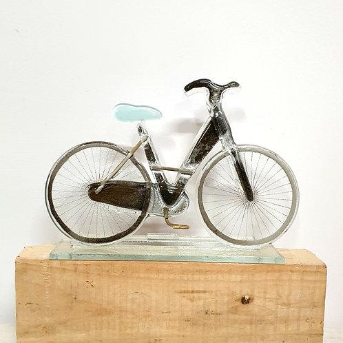 Rower damski - błękitne siodełko