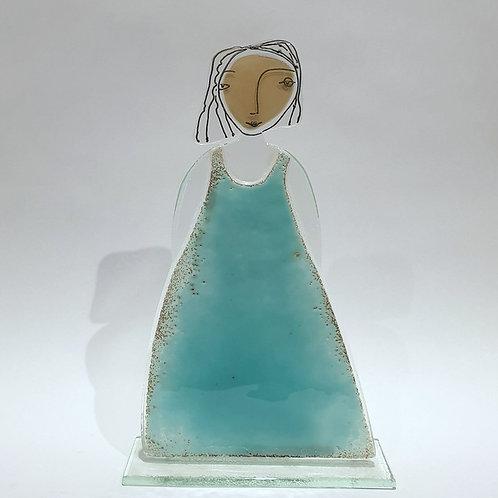 Pani - niebieska sukienka