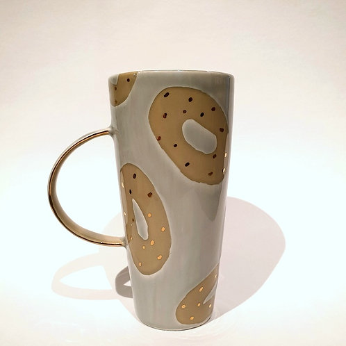 Kubek ziarnko kawy szary