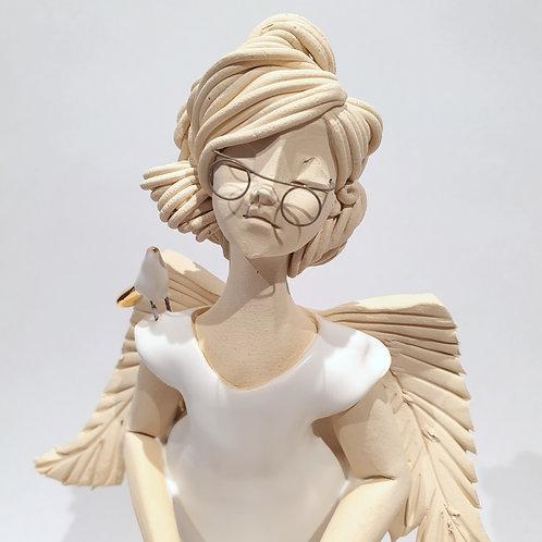 Dama - anioł - biała