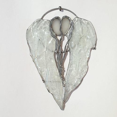 Anielskie skrzydła-serce podwójne małe - witraż