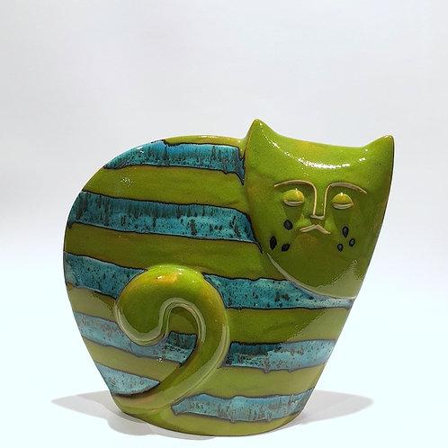 Kot sfinks zielony