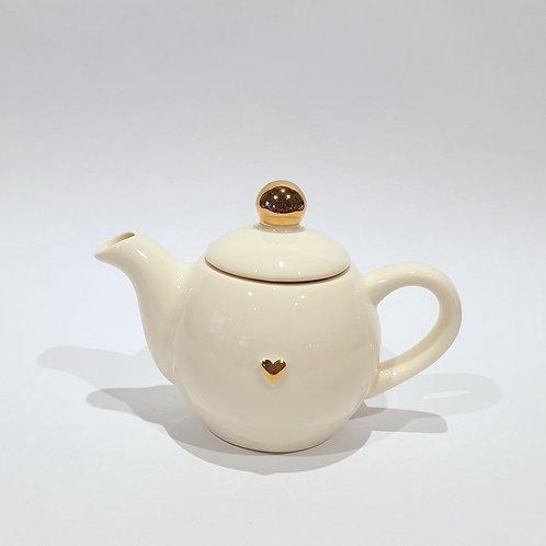 Dzbanek-czajniczek - ecru mały