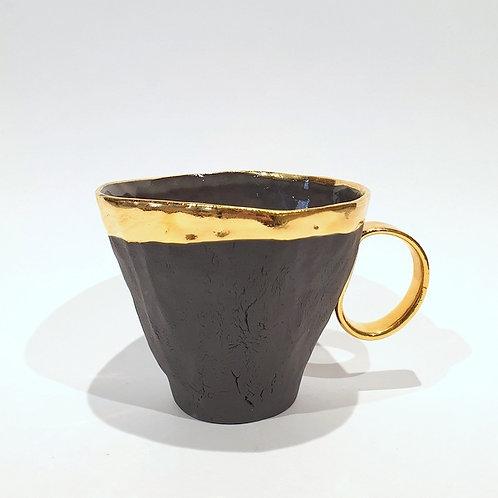 Kubek porcelanowy L - czarny mat
