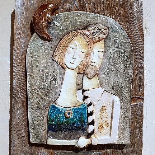 Młoda para w świetle księżyca