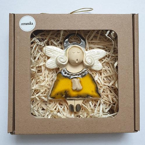 Aniołek wiszący ceramiczny3