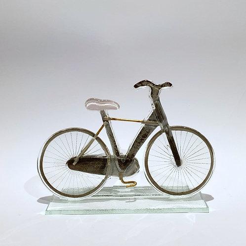 Rower męski - różowe siodełko