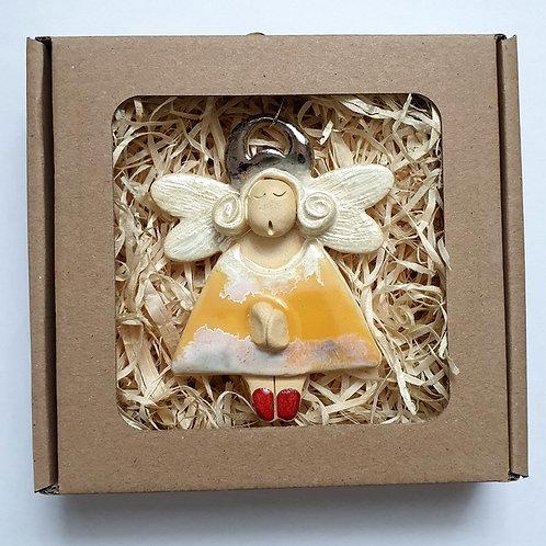 Aniołek wiszący ceramiczny2