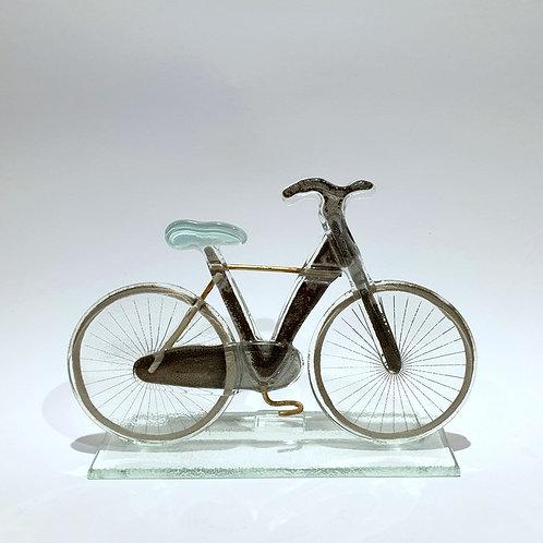 Rower męski - błękitne siodełko