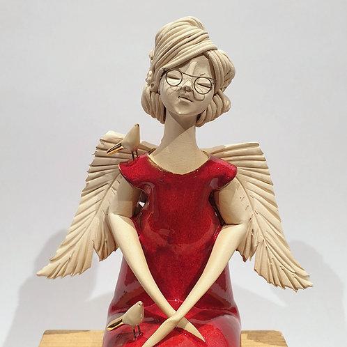 Dama - anioł - czerwona