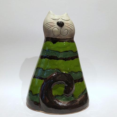 Kot walec pręgowany zielony duży