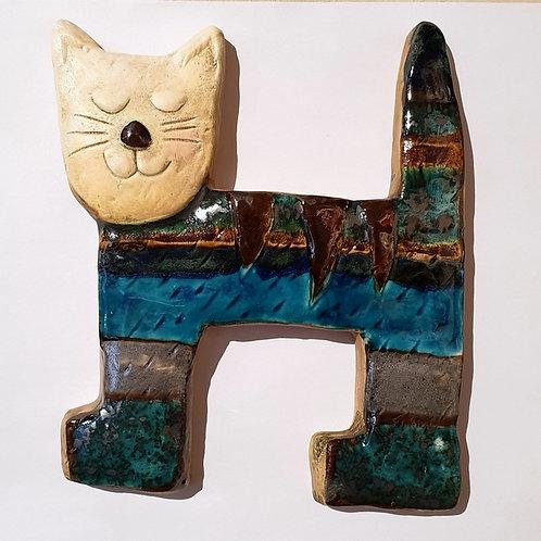Kot kwadrat niebiesko-szary