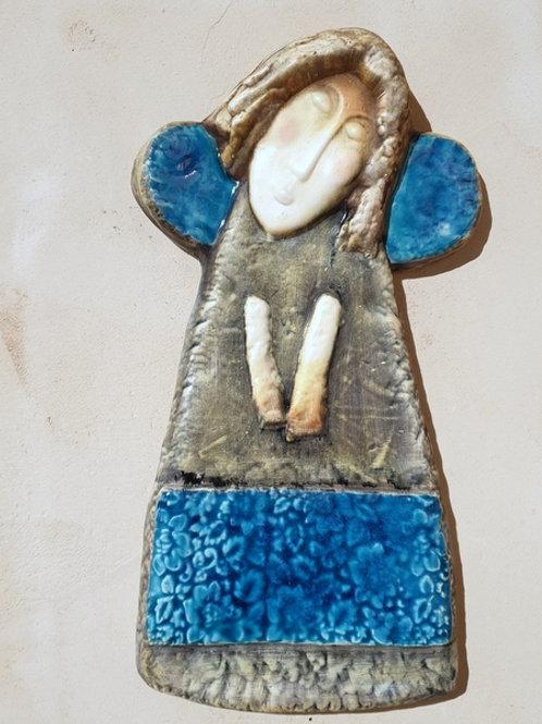 Senny anioł turkusowy
