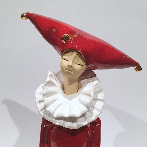 Pierrot stojący - czerwony