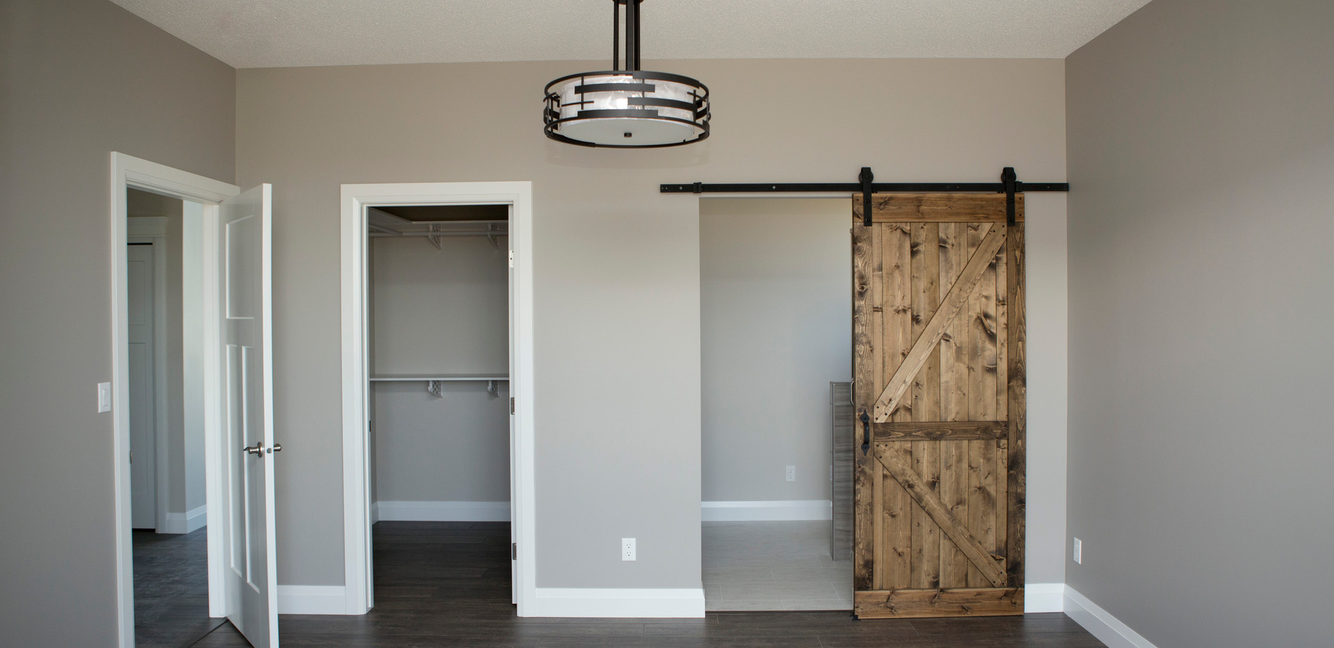 Ensuite with Custom Barn Door