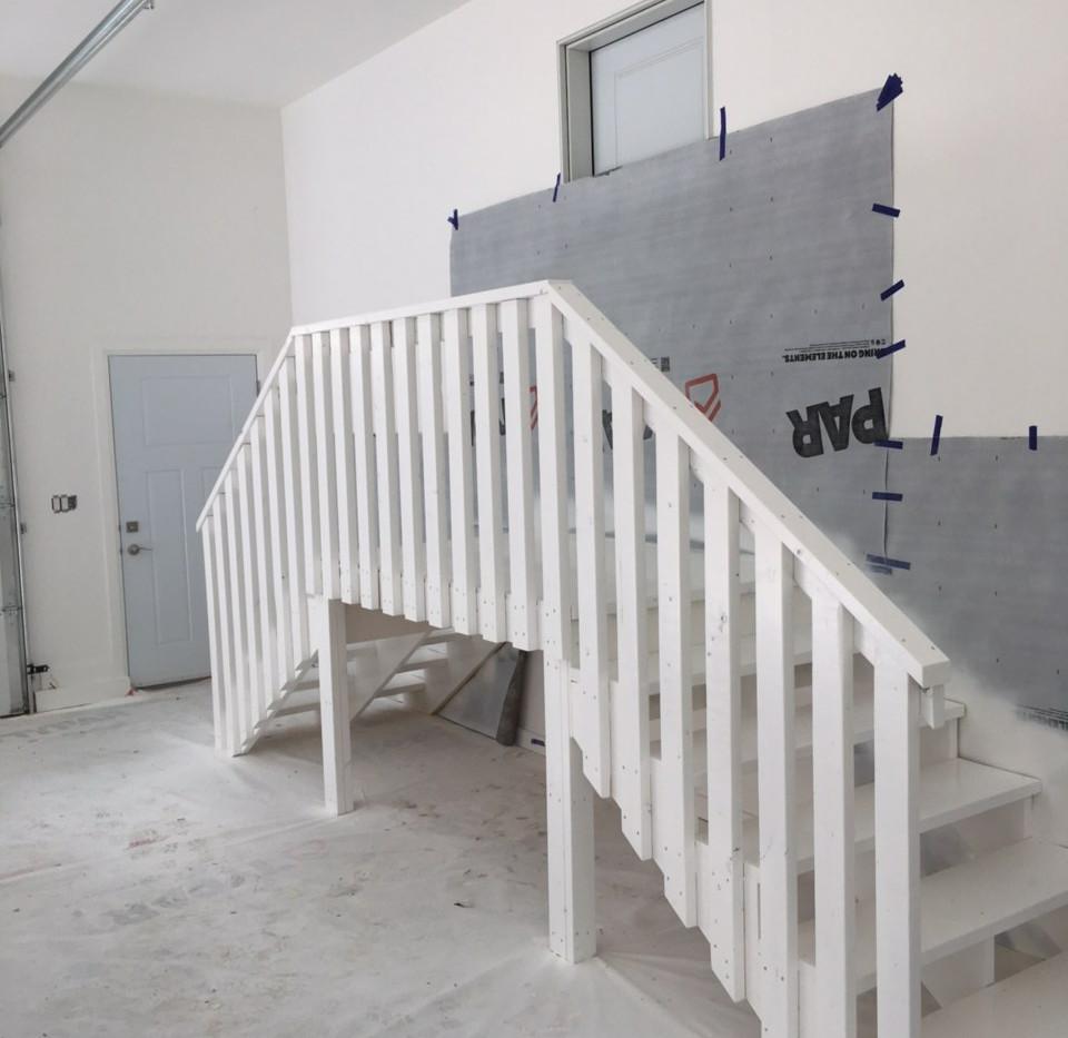 Garage Stair Landing