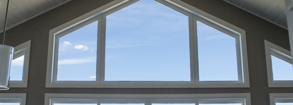 Vaulted Living with Beam