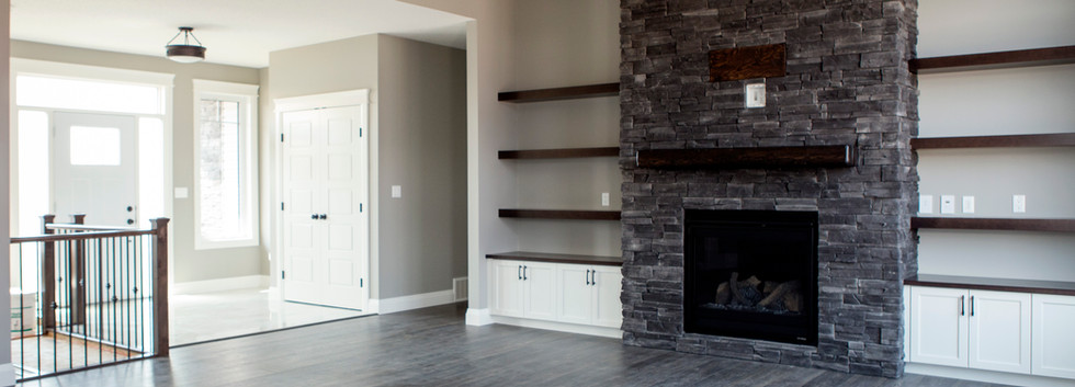 Fireplace and Built Ins