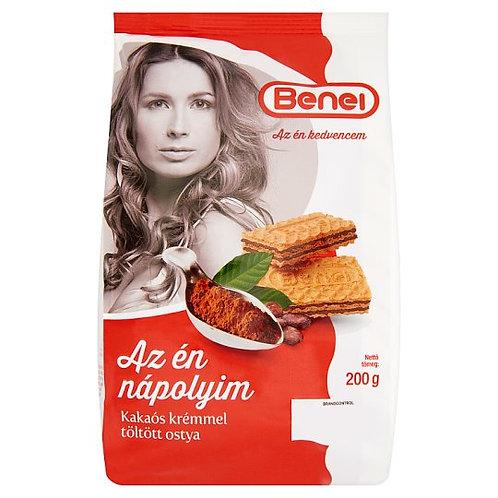 Våffelkex med kakao / Töltött Ostya Kakaó Benei 200g.
