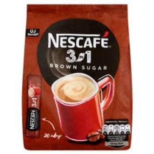Nescafé 3in1 med brun socker - 175g