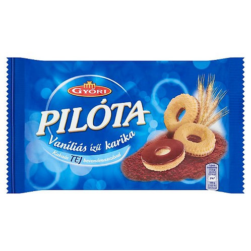 Pilóta Vaniljringar med mjölkchoklad 150g.