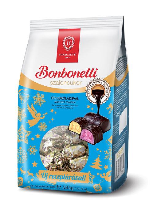 Bonbonetti julgodis 345 g málnás-banános fondan, étcsokoládéval