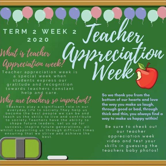 Teachers Appreciations Week Info