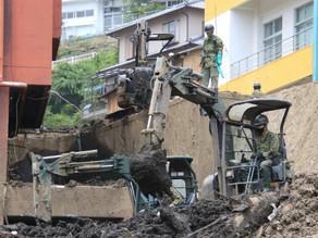 熱海市伊豆山の災害派遣活動