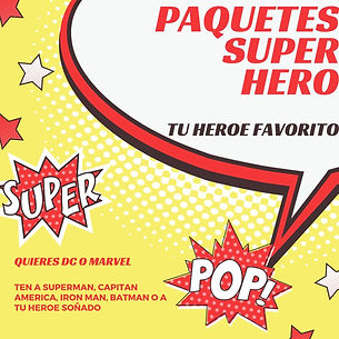 Red Yellow Blue Comic Bubble Superhero I